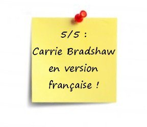post-it dans Chick-Lit...
